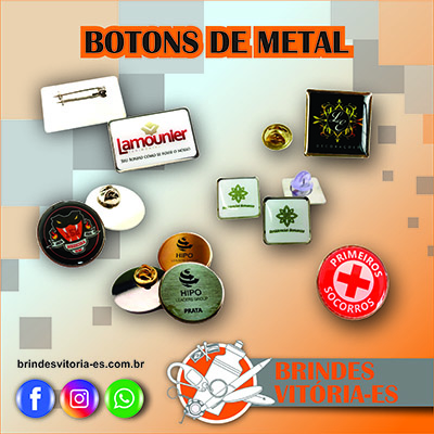 Brindes vitoria Botons de Metal